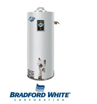 Picture of a Bradford White Water Heater To Be Installed in Stiles